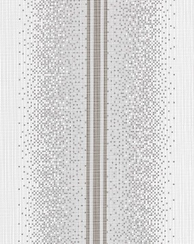 EDEM 1023-16 vinyl wallpaper design mosaic tile stone stripe decor washable textured wallcovering white grey silver
