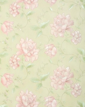 Floral wallpaper EDEM 748-33 embossed heavy-weight vinyl wallpaper luxury flowers light pink green 5.33 sqm (57 sq ft)