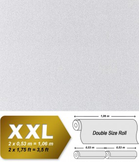 Non-woven wallpaper XXL EDEM 998-39 granite mosaic plaster natural stone chips effect white grey | 10,65 sqm (114 sq ft)